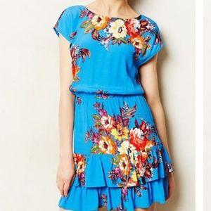 Anthropologie Mandra Floral Dress, Size M LIKE NEW
